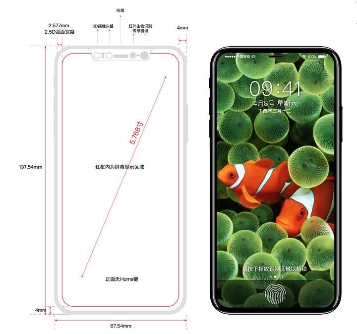 iphone 8 pannello frontale
