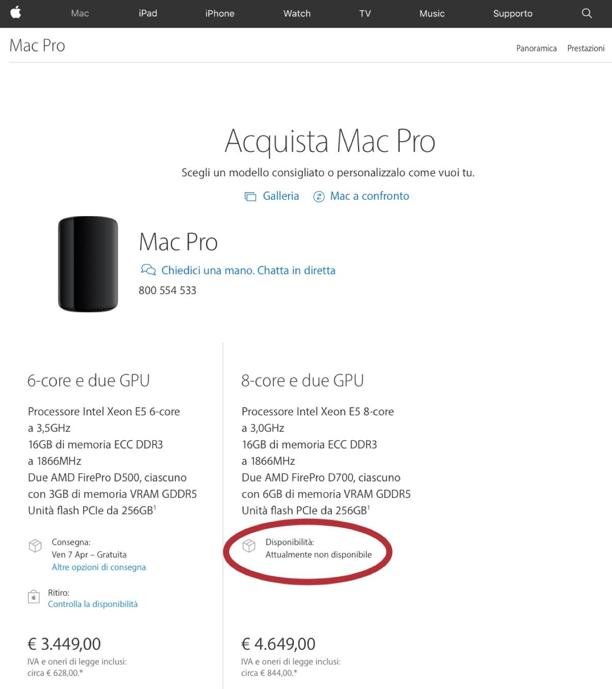mac pro aggiornato 8 core
