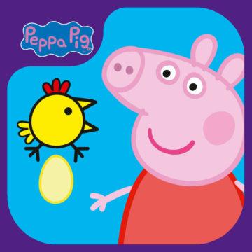peppa big felice signora pollo