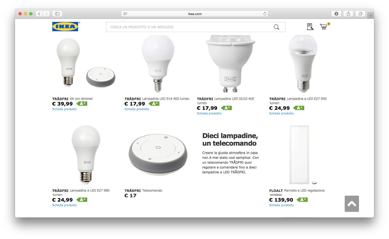 luci e altri dispositivi smart di ikea diventeranno