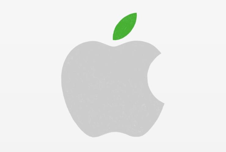 apple logo green 740
