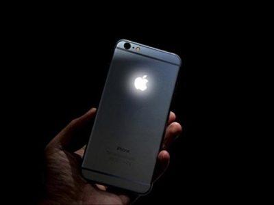 apple logo iphone illuminato