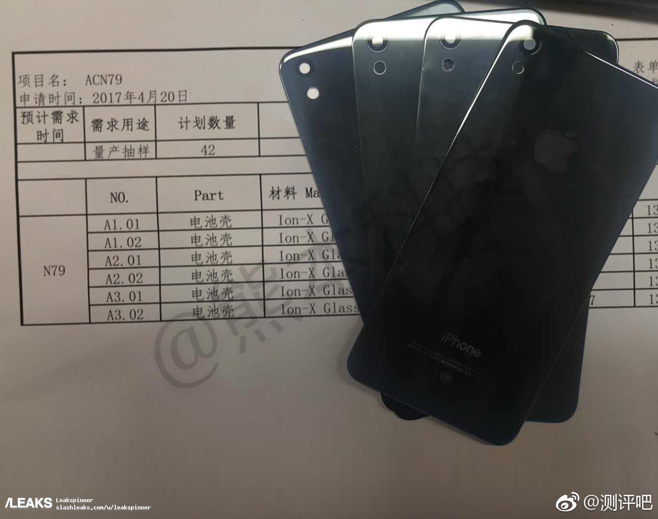 iPhone 8 guscio in vetro foto