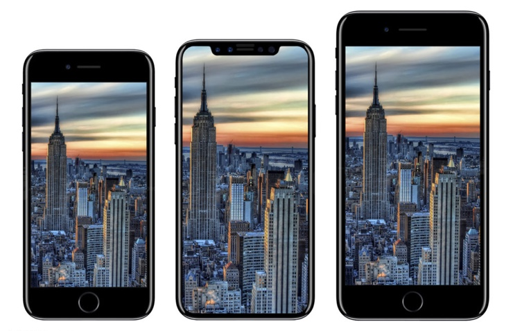 misure iPhone 8 confronto iPhone 7 render