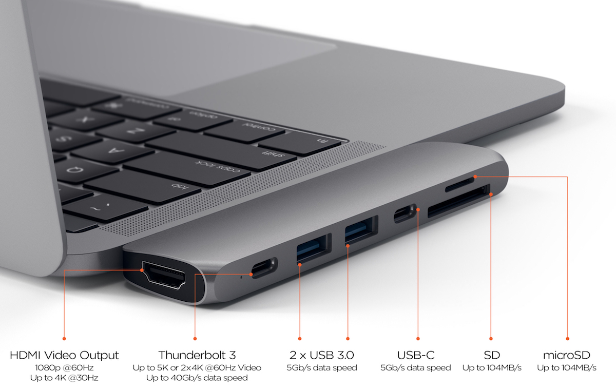 Satechi Lancia L Hub Usc Type C Definitivo Per Macbook Pro