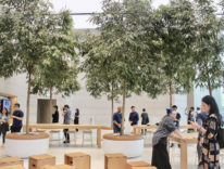 Nel faraonico Apple Store di Singapore la scalinata è ispirata ad Apple Park