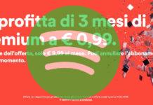 Spotify Premium per 3 mesi a 0,99 euro: ritorna l'offerta estiva