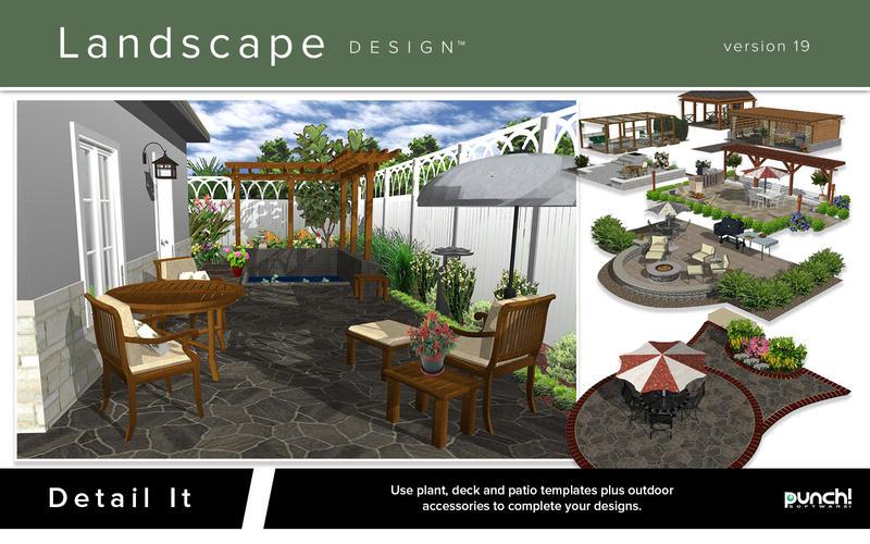 Landscape design aggiornata l app mac per la progettazione
