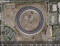 Apple Park, un video di 18 secondi mostra due anni di costruzione