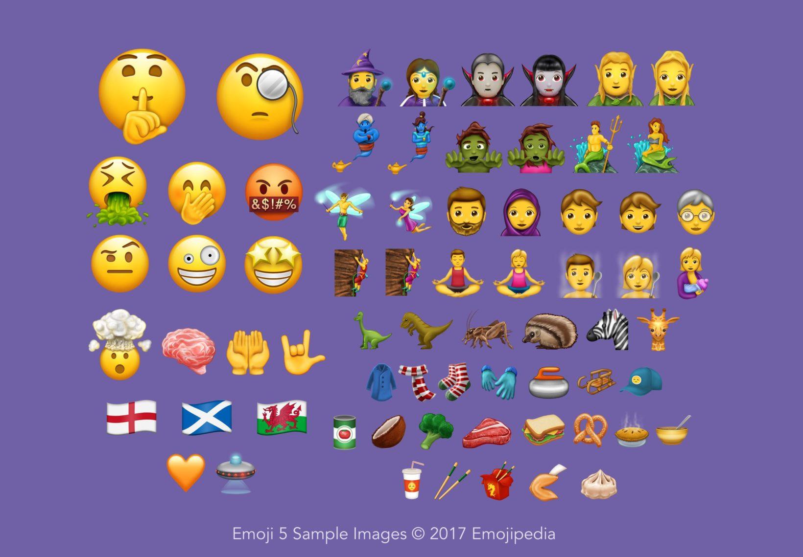 nuove emoji unicode 10.0.0