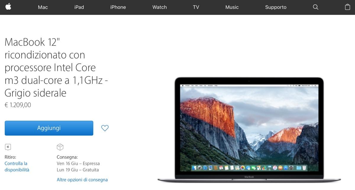 ricondizionati apple macbook 12