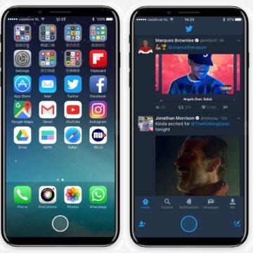 Concept di iPhone 8 con Touch ID integrato nello schermo