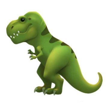 emoji t-rex