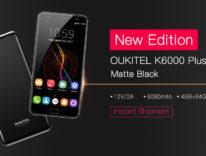OUKITEL K6000 Plus, il re dell'autonomia è disponibile adesso anche in colorazione nero opaco