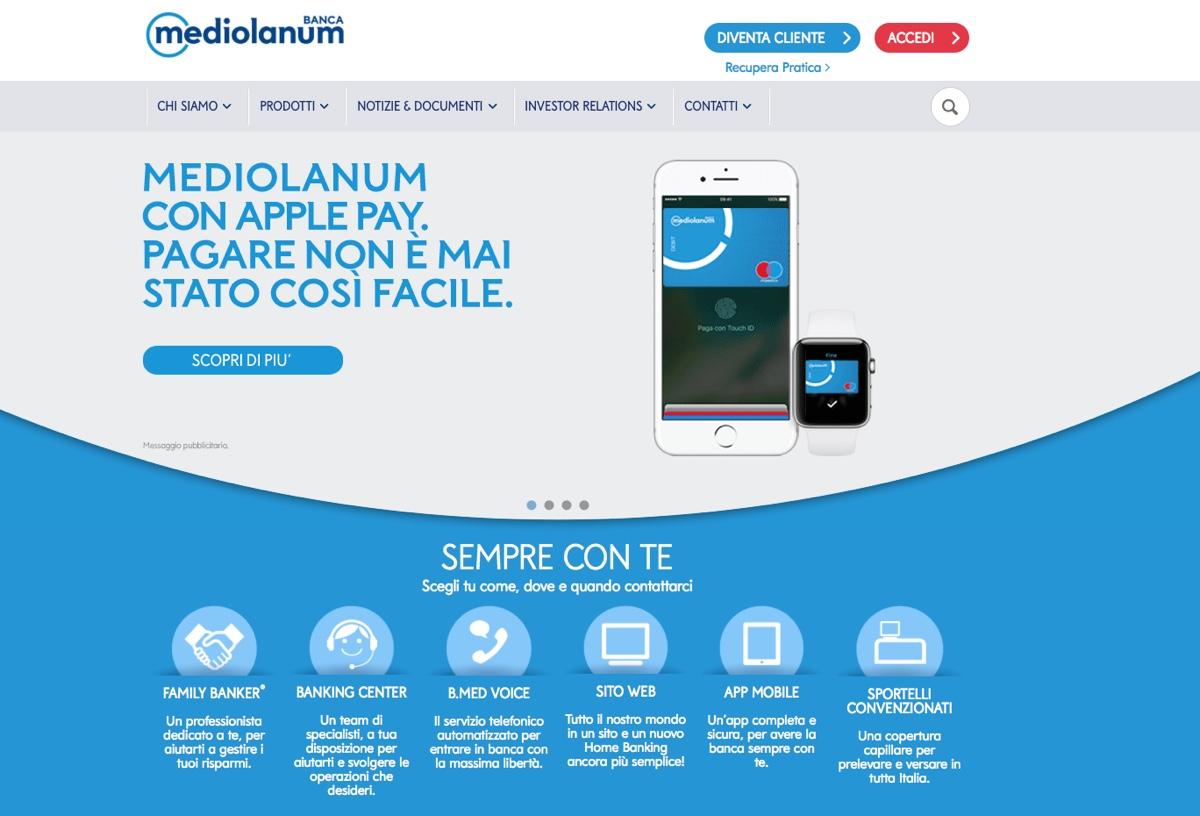 apple pay italia mediolanum 1