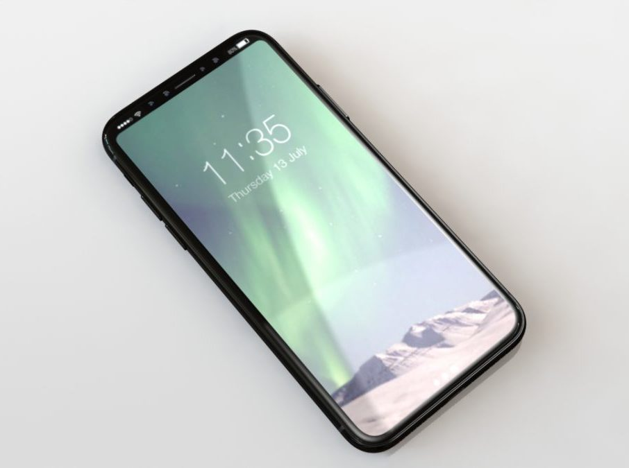 iPhone 8 rendering schermo