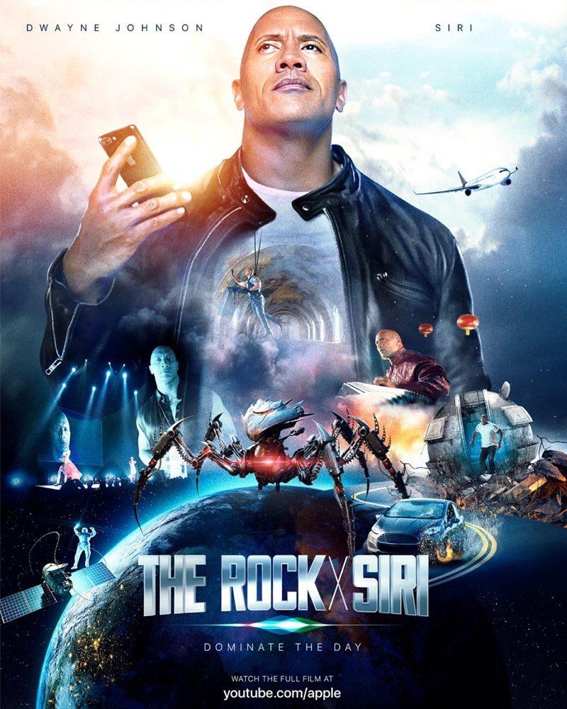 the rock e siri