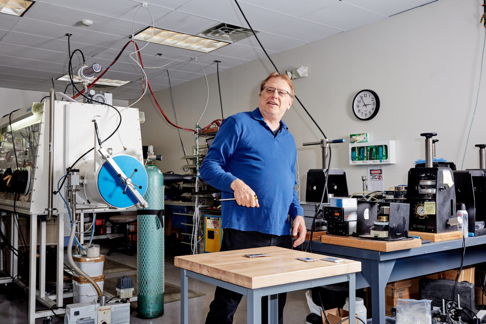 Mike Zimmerman, fondatore e CEO di Ionic Materials. Foto: Tony Luong - The New York Times