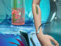 Creata una batteria flessibile che funziona grazie all'acqua salata