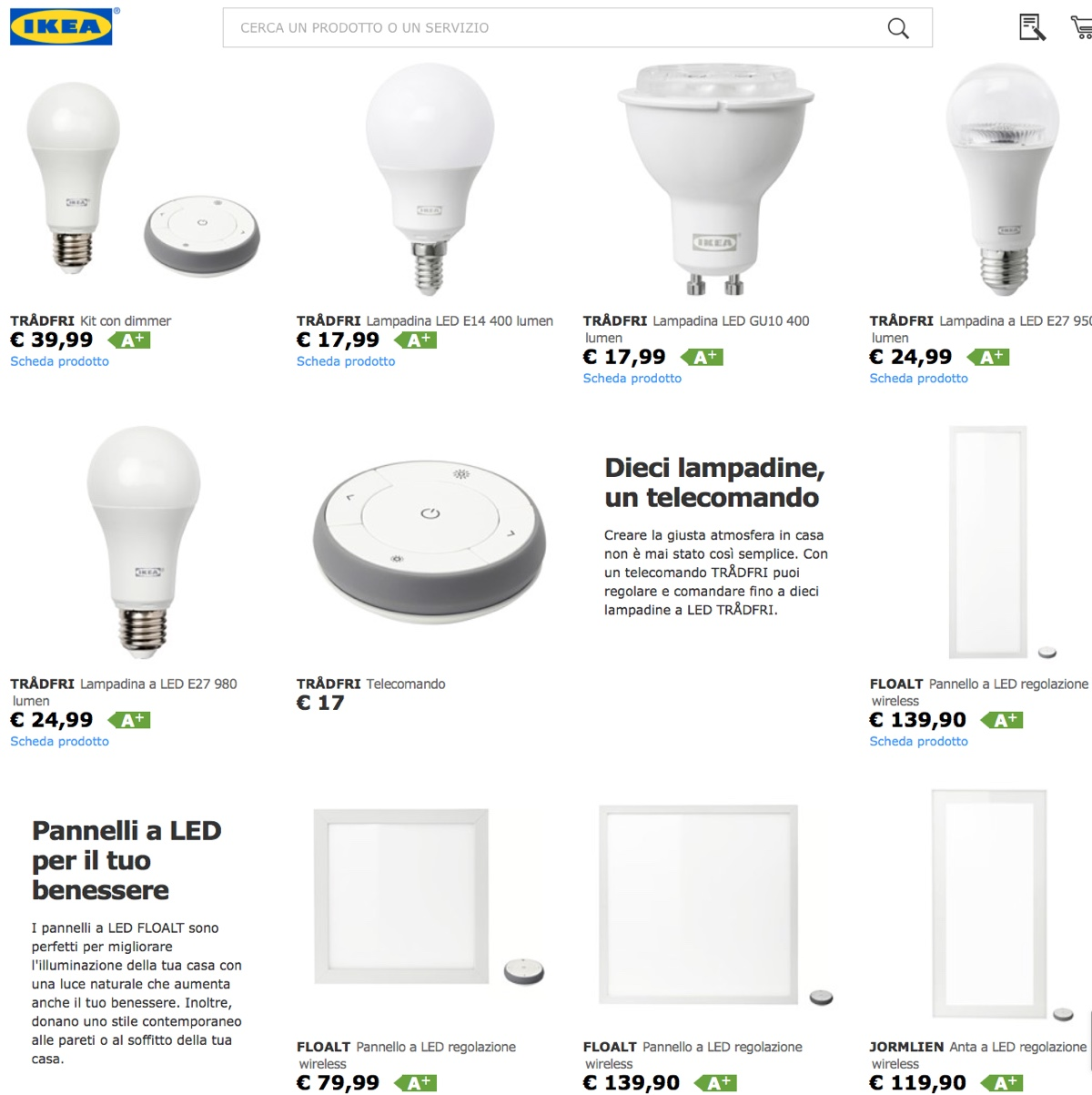Ikea tradfri le lampade smart per tutti supportano for Lampadine led ikea