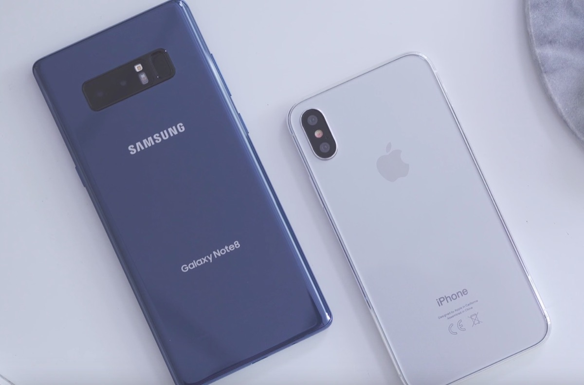 iphone 8 contro galaxy note 8