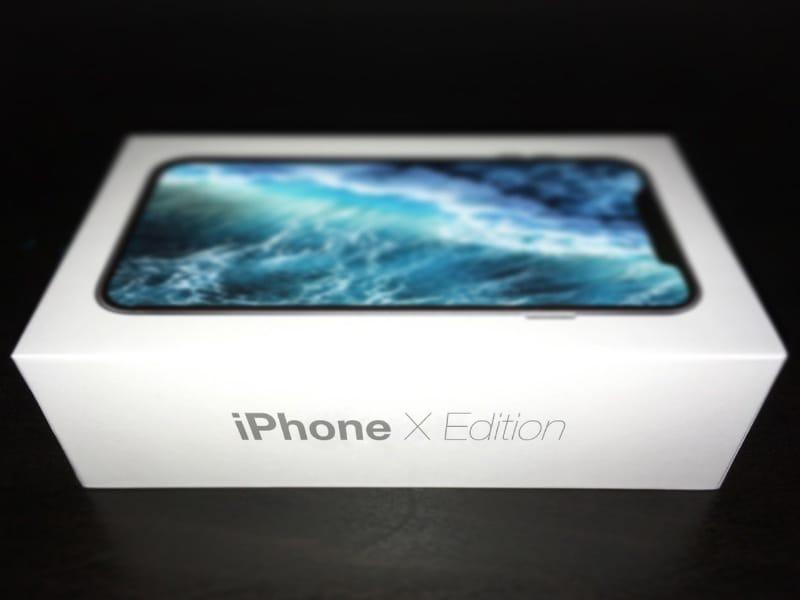 iphone X edition scatola