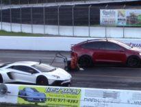 Tesla Model X brucia Lamborghini Aventador nella gara di accelerazione, il video