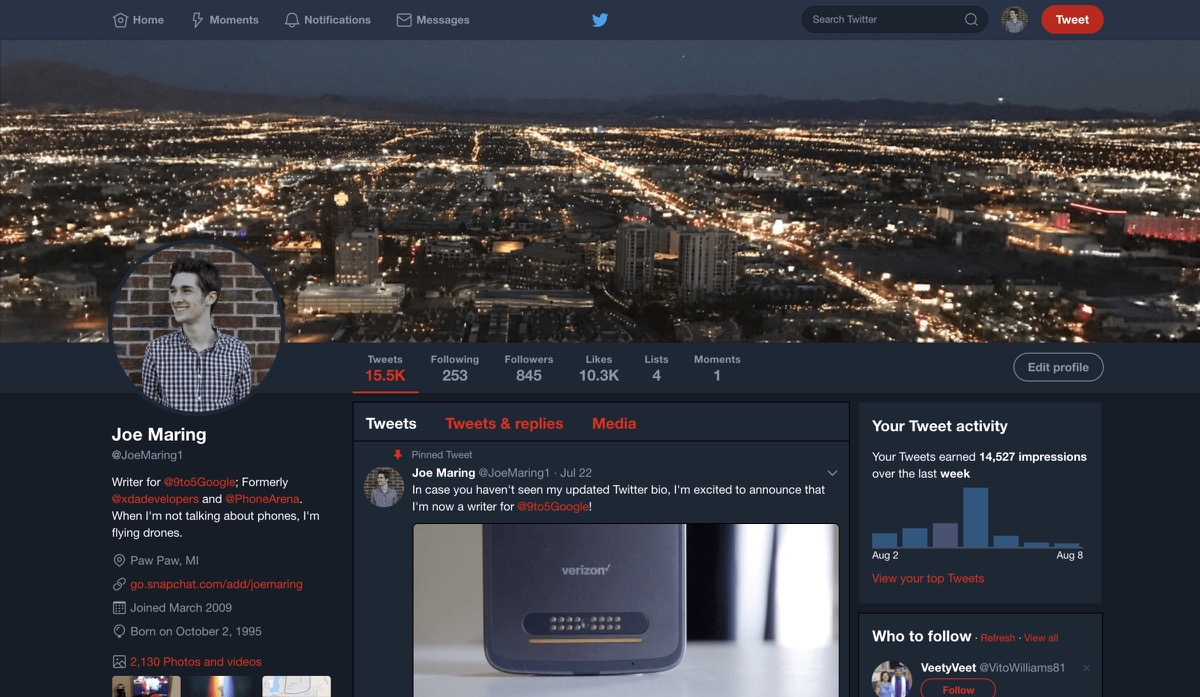 twitter dark desktop