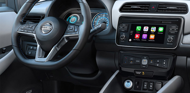Leaf Nissan con Carplay