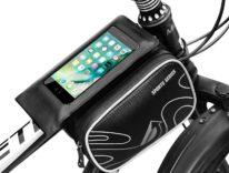 Sacca per bicicletta con piattaforma smartphone: sconto a 13 euro