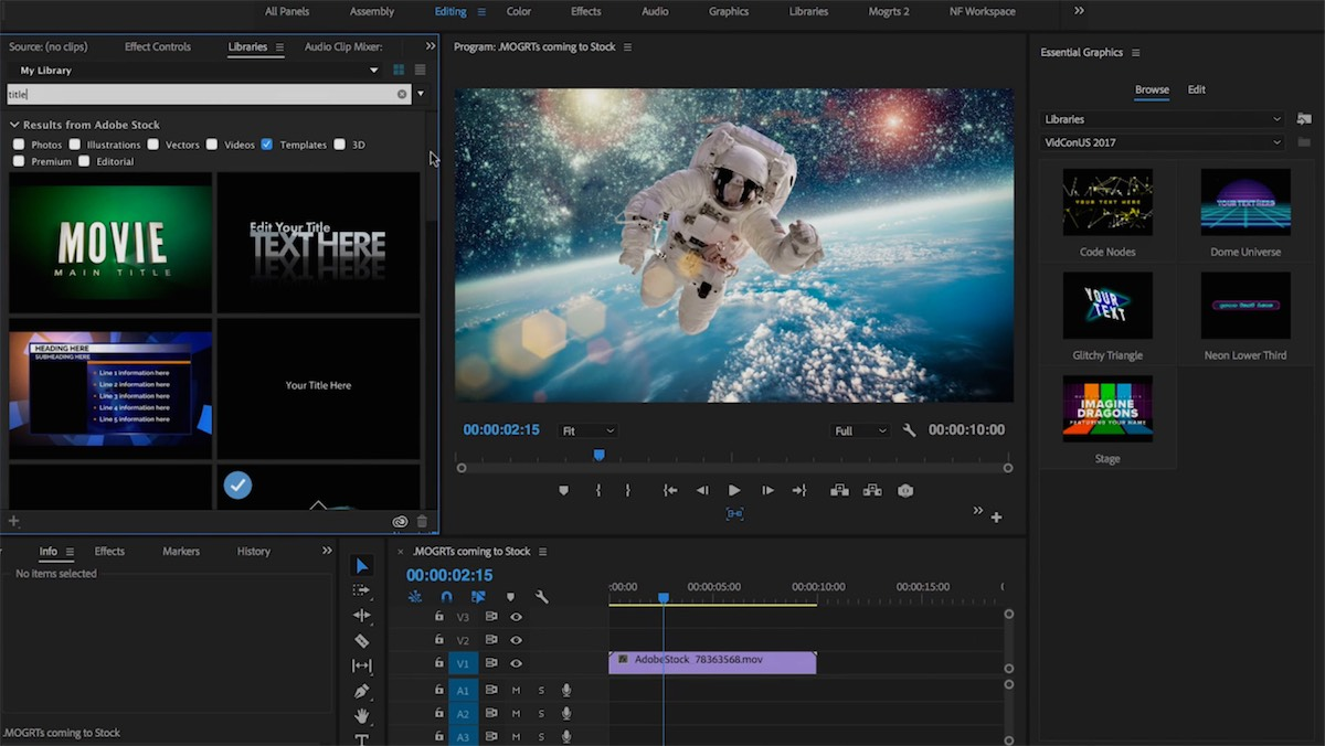 adobe creative cloud video Adobe Stock Motion Graphics Templates - Screenshots