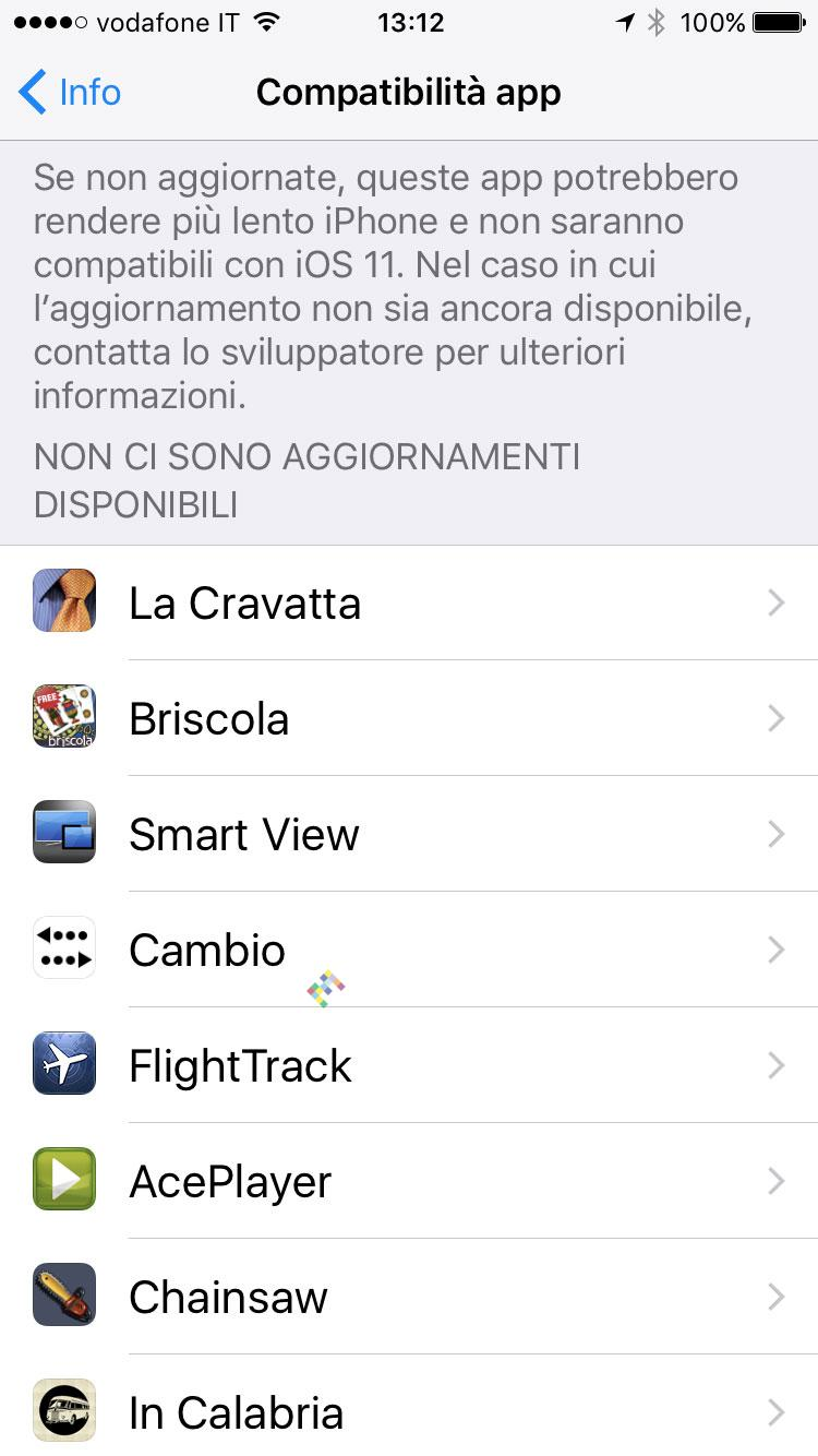 App da aggiornare