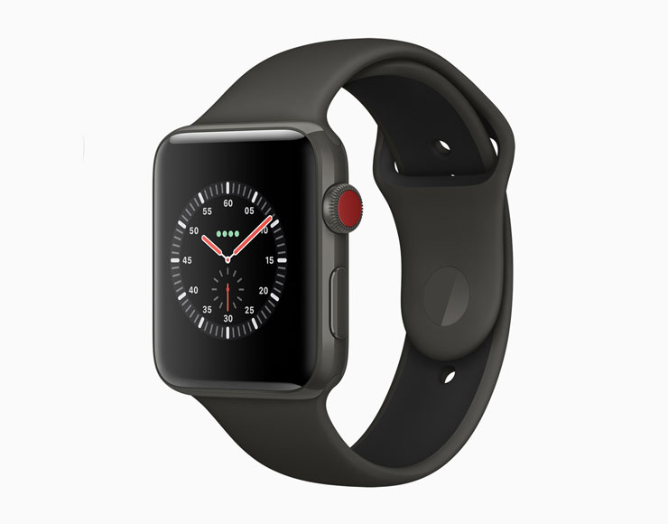 L'Apple Watch Edition con cassa in ceramica grigia