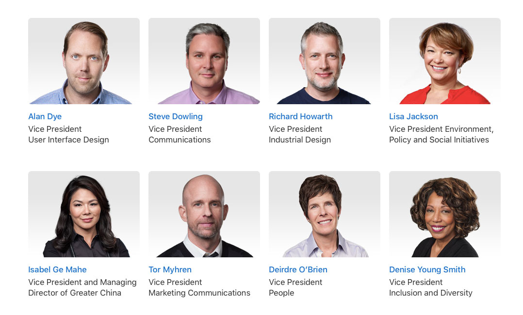dirigenti Apple