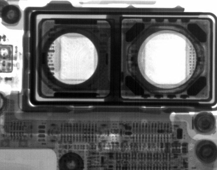Foto ai raggi X fotocamera iPhone 8 Plus