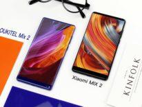 Oukitel Mix 2 vs. Xiaomi Mix 2, schermi accesi a confronto