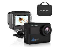 Action cam 4K touch con valigetta carica di accessori: sconto a 68,79 euro