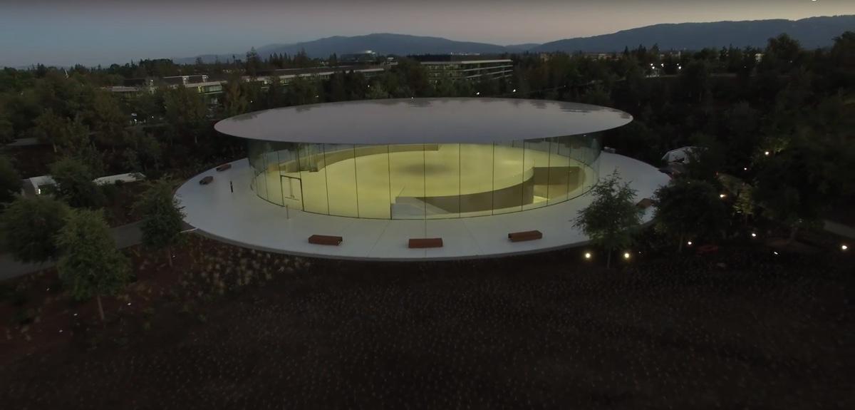 vetrate apple park apple park video drone settembre 2