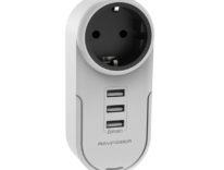 Caricatore da muro con 3 USB e presa passante e rotante: sconto 12,79 euro