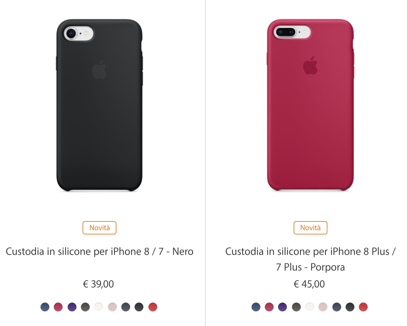 custodia in silicone per iphone 8