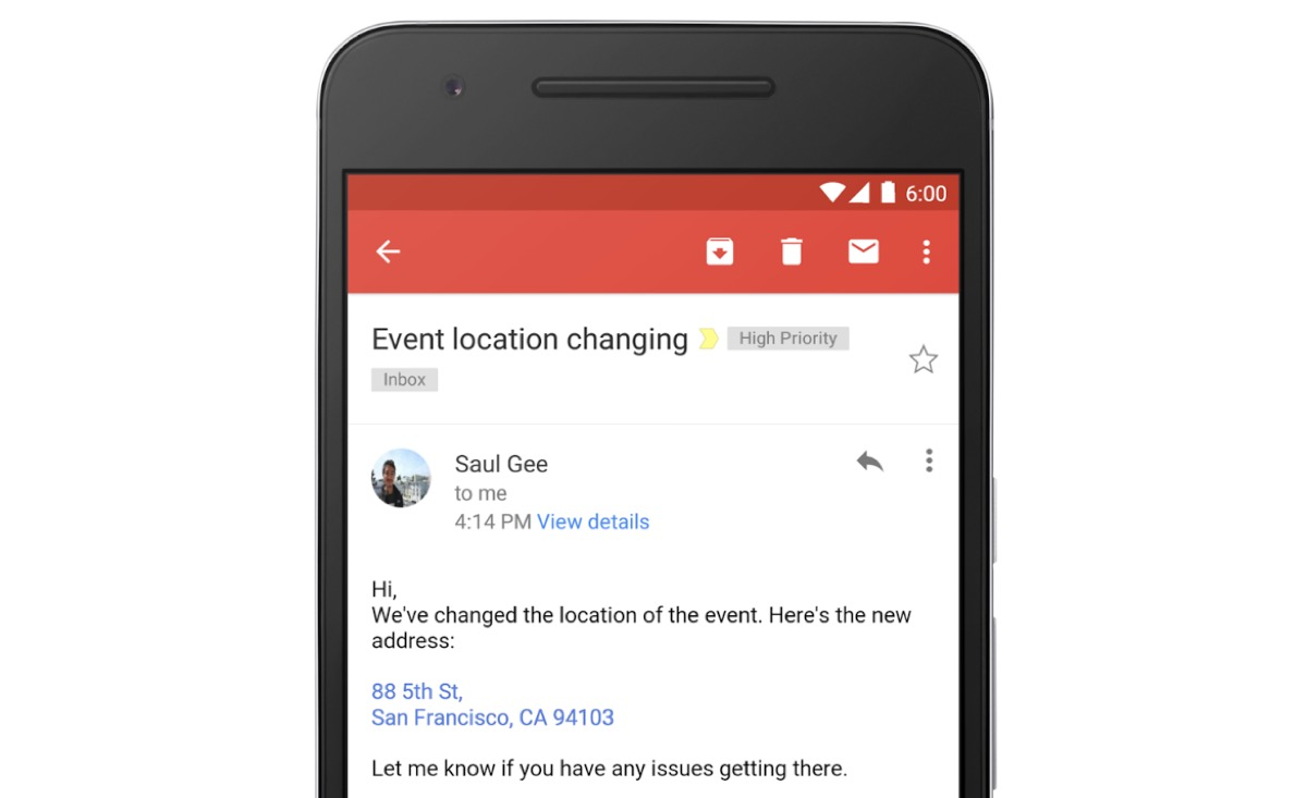 gmail cliccabile