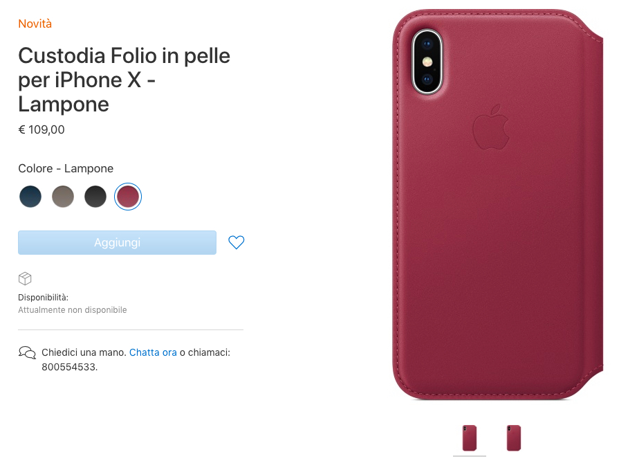 custodia folio iphone x