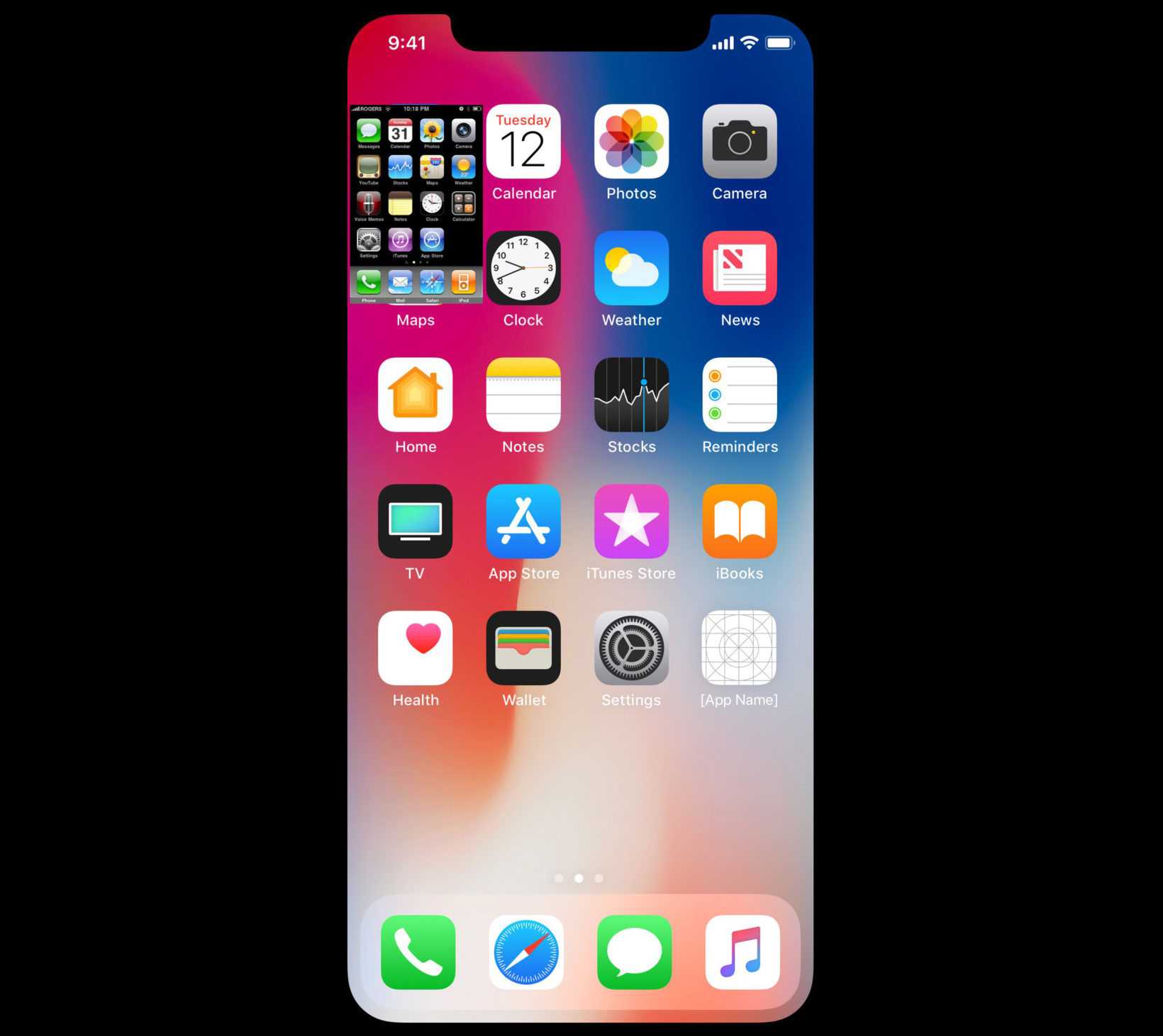 iPhone X iPhone 2G confronto schermo