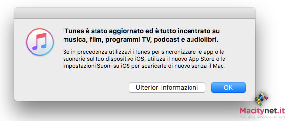 Disponibile iTunes 12 7 senza App Store, stop al download di