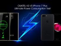 iPhone 7 Plus contro Oukitel K3, sfida tra batterie