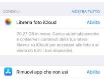 Come liberare spazio iPhone con iOS 11