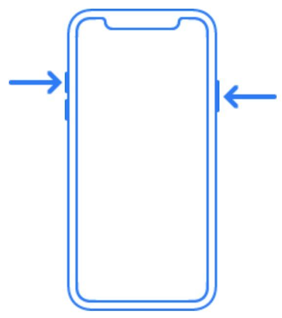 tasto laterale di iPhone X