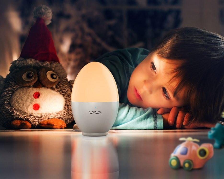 Plafoniera Con Luce Notturna : Recensione vava luce led notturna per bambini con ricarica usb