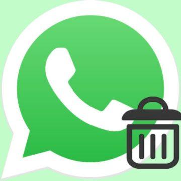 elimina messaggio su whatsapp