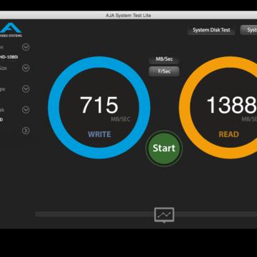 Test di velocità su MacBook Air inizio 2015 con macOS Sierra 10.13 su unità flash APPLE SSD SM0128G (128GB) inizializzata come APFS